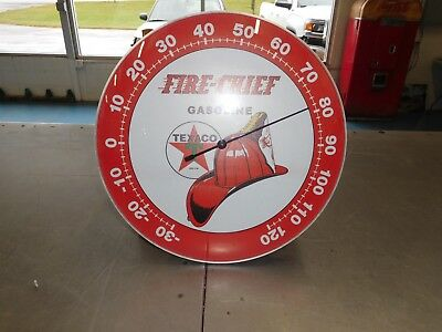 Texaco Fire Chief Thermometer Sign
