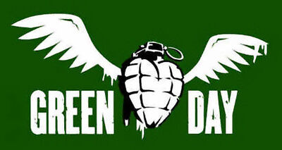 Green Day Poster Flag Winged Grenade Logo Tapestry