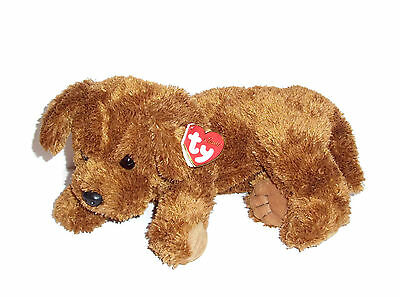 NEW Ty Classic DOBBS Brown Puppy Dog Plush 2007 Stuffed Animal TySilk