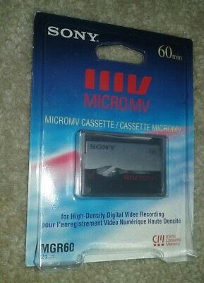 Sony Micro MV Cassette MGR 60 New and Unopened