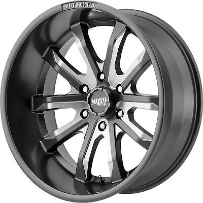 20x10 Gray Milled Moto Metal MO983 Wheels 8x170 -18 Lifted Fits Ford F-350