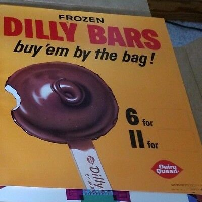 Vintage 1965 Dairy Queen Dilly Bars Poster