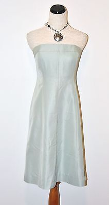 J.Crew Maisie Dress in Classic Faille #a1465 Sea Spray 8 $200 NEW
