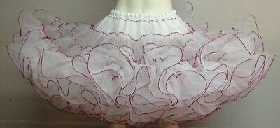 White And Pink Organdy Petticoat By Evas Petticoats