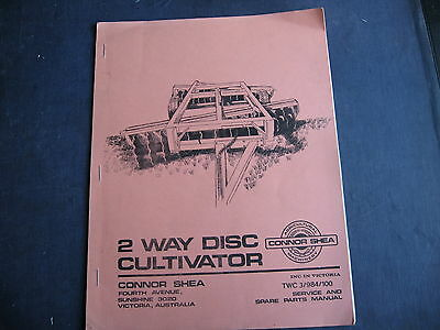 Connor Shea 2 way Cultivator Parts List  14 pages