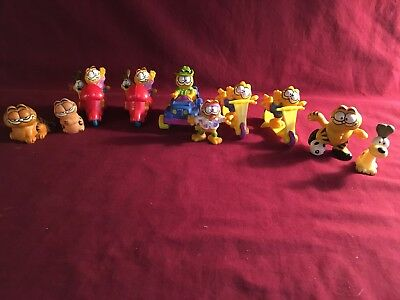 Garfield and Odie Figures Lot of 10