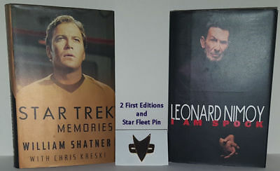 Star Trek Memories William Shatner & Leonard Nimoy I Am Spock & Communicator Pin
