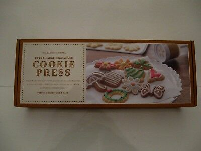 Williams Sonoma Extra Large Ergonomic Cookie Press with 16 Disks