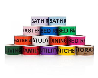 Home Moving Labels Adhesive Permanent Color Coding Rolls Bedroom Office Decor