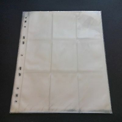 10 UPPER DECK 9-Pocket Sports/Trading Card Binder Pages Sheets Sleeves - New!