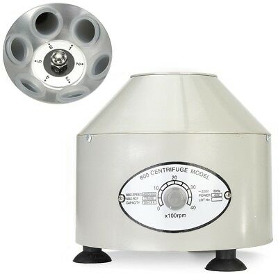 Electric Centrifuge Machine Adjustable Speed with Rotate Button for Lab 110V US