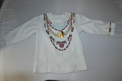 H&m Baby Girls 100% Cotton White Long Sleeve Top Us 6-9 Months