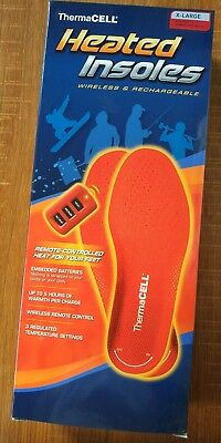 Thermacell Heated Insoles Wireless&Rechargeable Remote-Controlled