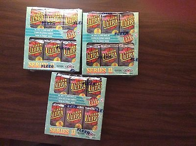 Lot (3) '92-93 Fleer Ultra Series II Basketball, Factory Sealed Boxes