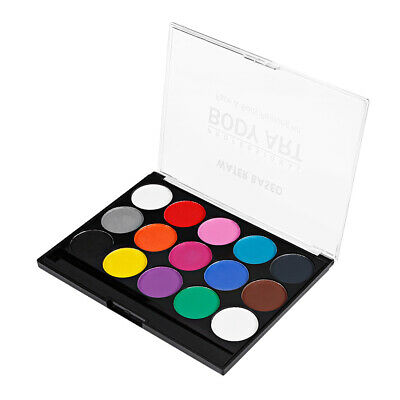 Kids Adults Body Face Paint Oil Painting 15 Colors Party Make Up Palette Kit