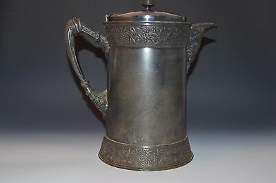 Vansant Aesthetic Movement Silver Plate Water Pitcher Large Victorian