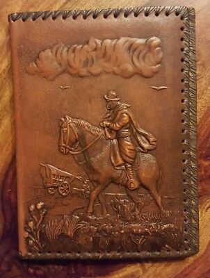 Vintage Horse-Cavalier book leather like cover (10x7x0.5'')