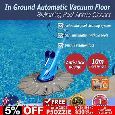 NEW In Ground Auto Vacuum Floor 10M Hose / Automatic Swimming Pool Above Cleaner