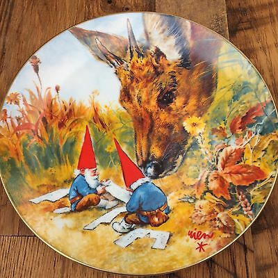 """""""Gnome Made"""" by Rien Poortvliet 1982 Collector Plate VGUC"""