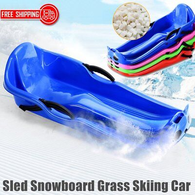 Thickened Sled Snowboard Grass Skiing Car Sliding Plate with Brake For Kids CG