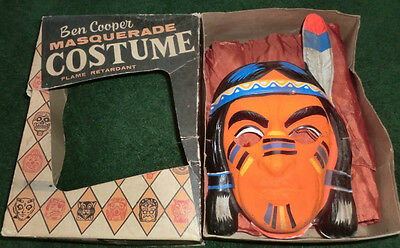 Ben Cooper Halloween Costume Chief Thunderbird w/Mask Vintage 1940/50's