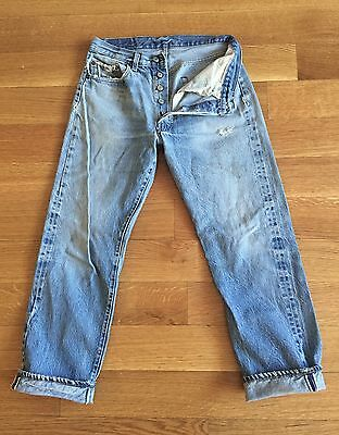 LEVIS TRUE VINTAGE 70's 501 XX Red Line Selvedge Denim Jeans fits 28 x 28 USA