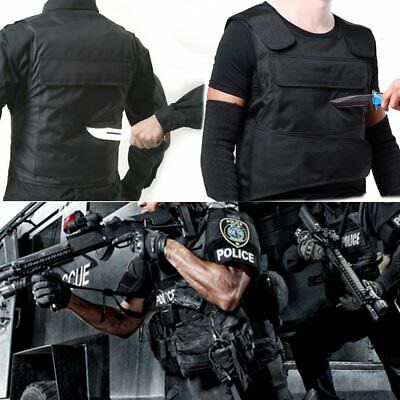 AU Tactical Men Stabproof Anti Stab Vest Outdoor Self-defense Security Vest g CG
