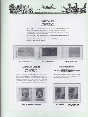 NEW - 1997 Seven Seas Australian Hingeless Pages