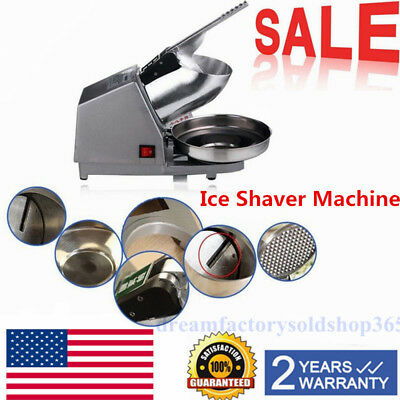 Commercial Electric Ice Crusher Ice Shaver Snow Cone Machine Ice Maker 110V USA
