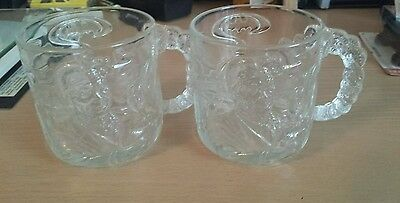 Batman Forever TWO-FACE McDonald's 1995 Collector Cups Set of 2