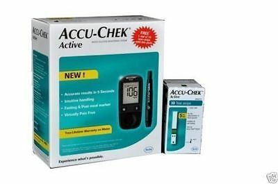 Accu-Chek Active Blood Sugar/Glucose Monitoring Device with 10 Strips Free