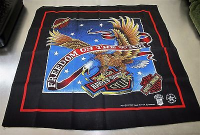 Vintage Harley-Davidson Freedom On The Wing Eagle  Made In USA Bandana LOTM149