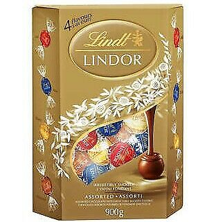 Lindt Lindor Assorted Chocolate Truffles, 4 flavours  900g/1.98pds