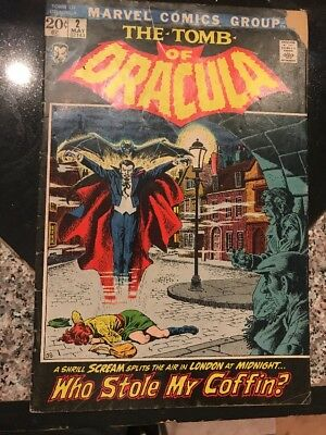 The Tomb of Dracula #2 1972 Marvel Comic Book