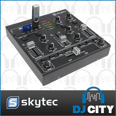 Skytec STM-2250 DJ Music Mixer with USB/SD Card MP3 Player + Sound FX Sampler
