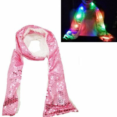 Luwint LED Sequence Flashing Scarf - Colorful Light Up Rave Clothing Accessories