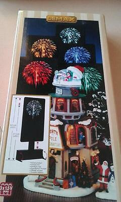 BNIB 2016 Christmas Lemax fireworks. Look fantastic in village!  White OR YELLOW
