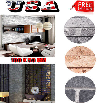 3D Wallpaper Bedroom Mural Roll Retro Stone Brick Wall Background Textured Art