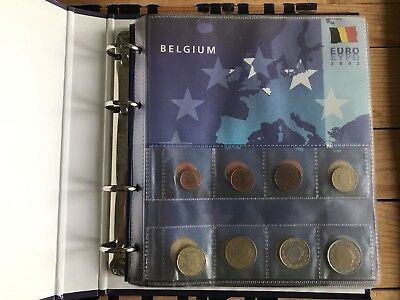 Complete Euro Coin collection - Old Euro coins of the First 12 members of the EU