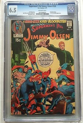 CGC 6.5 Superman's Pal #135 *Off-White*1971*1st App. S.A Guardian*Darkseid Cameo