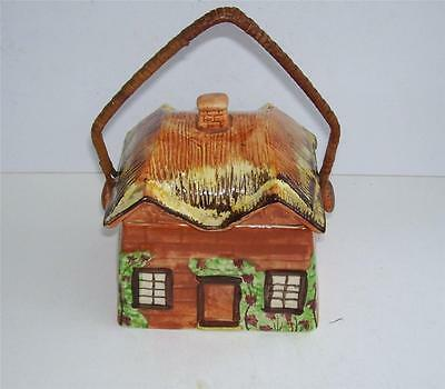 Retro/Shabby Chic Hand Painted Cottage Ware Biscuit Barrel.