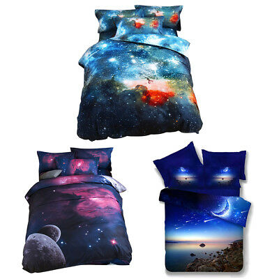 3D Duvet Quilt Cover Set Bed Animal Pillow Cases Doona Cover Space Duvet Cover