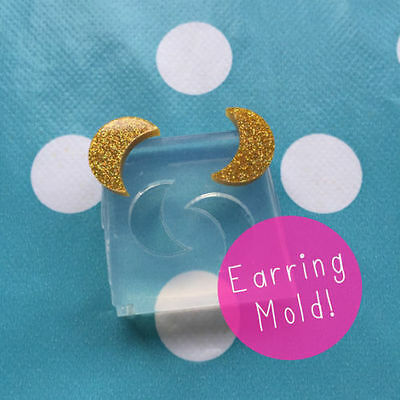 SILICONE EARRING MOLD - Moon Space Earrings Resin Jewellery Craft Mould