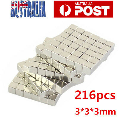 216pcs 3*3*3mm Rare Earth Magnets Cubes Neodymium Super Strong Blocks Magnet AU