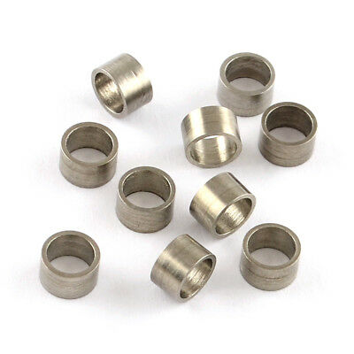 500pcs Quality 304 Stainless Steel Column Metal Beads Large Hole Spacers 3x5mm