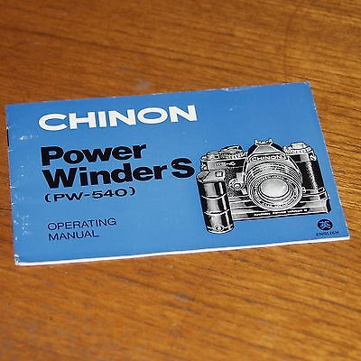 Instructions for CHINON POWER WINDER PW-540 in English