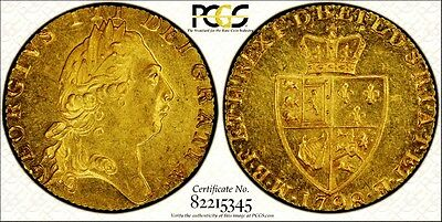 1798 George Iii  Gold Full Guinea; Certified Pcgs  Mint State