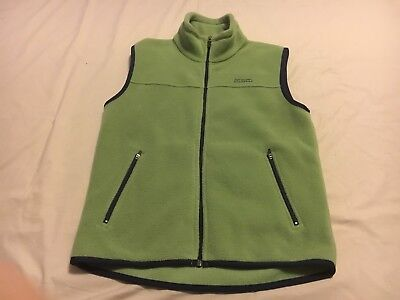 Kathmandu Youth Outdoor Hiking Green Fleece Vest Size 12Y