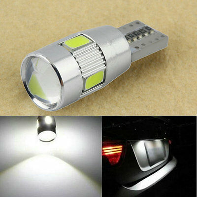 HID White CANBUS T10 W5W 5630 6-SMD Car Auto LED Light Bulb Lamp 194 192 158 AU