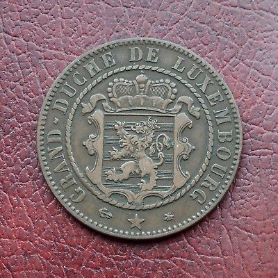 Luxembourg 1865A bronze 10 centimes